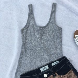 Rue 21  tank gray w/ clear sequins